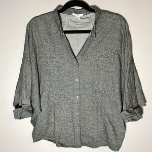 Helmut Lang Small Dolman Button Shirt Small Flaw